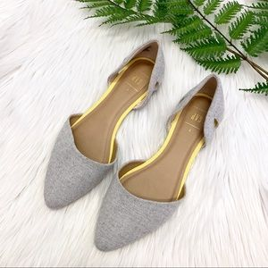 Gray Ballet Flats